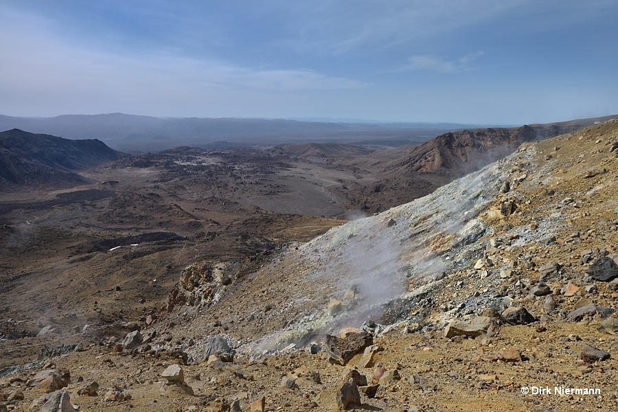 Fumaroles in front of Oturere Valley