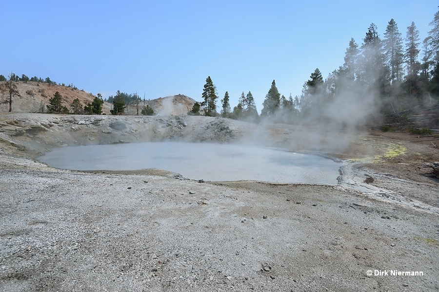 Turbid Blue Mud Spring Yellowstone