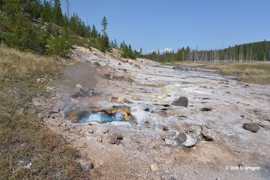 Geyser Springs Spouter Yellowstone