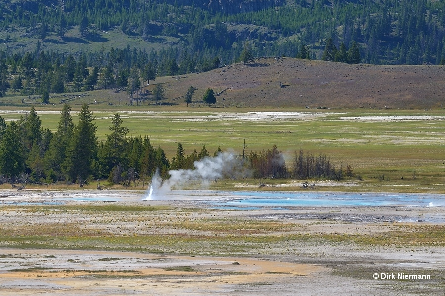 Unidentified geyser between Drain and Deep Blue Geyser Yellowstone