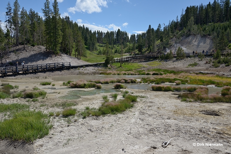 Mud Volcano Trail Yellowstone