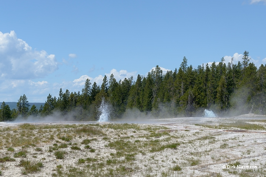 Bead Geyser and Box Spring Yellowstone