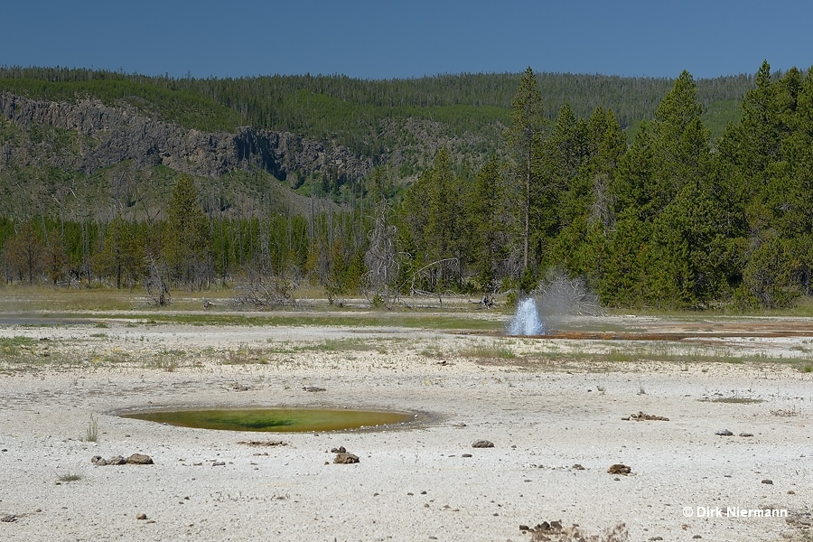 Trefoil Spring and Round Spring Geyser Yellowstone