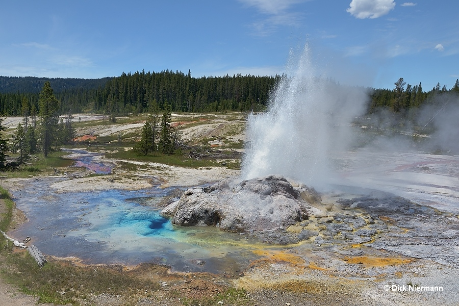 Minute Man Geyser Shoshone Basin Yellowstone