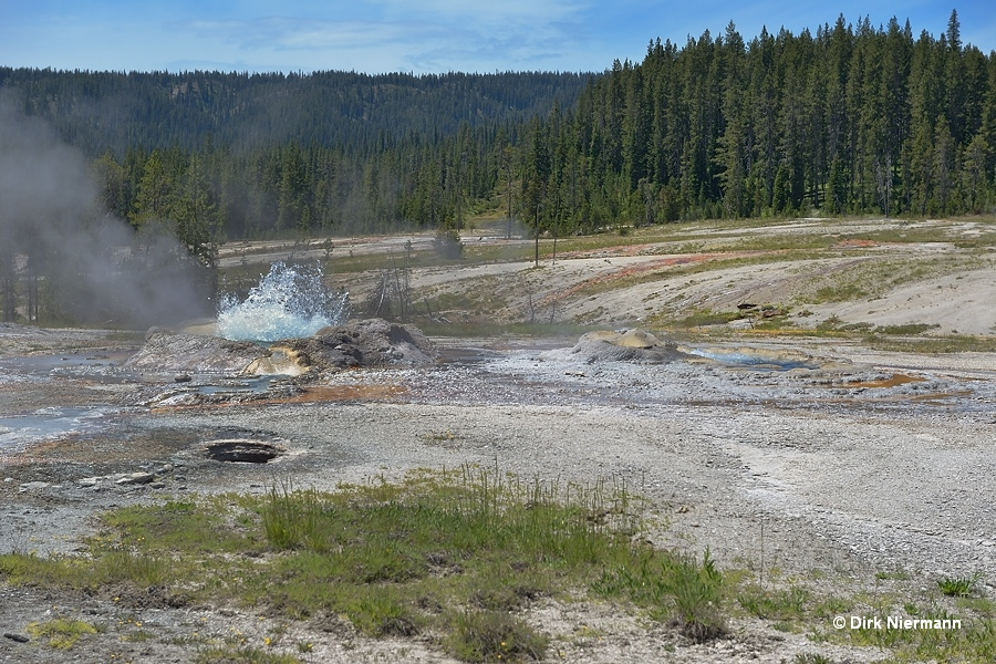 Shield Geyser and Gourd Spring, Shoshone Basin Yellowstone